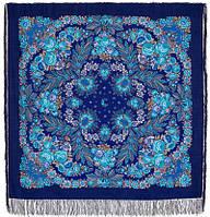 Признание 1462-14, павлопосадский платок шерстяной  с шелковой бахромой