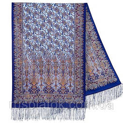 Обольщение 1338-63, павлопосадский шарф-палантин шерстяной с шелковой бахромой