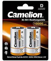 Аккумулятор Camelion R20 (D) 10000mAh NiMH 2шт