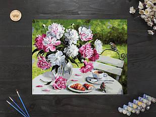 "Картина по номерам ""Завтрак с пионами"" 40х50 см"