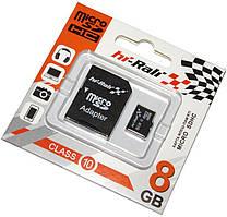Карта памяти Hi-Rali microSDHC 8GB Class 10 + SD-адаптер (HI-8GBSDCL10-01)