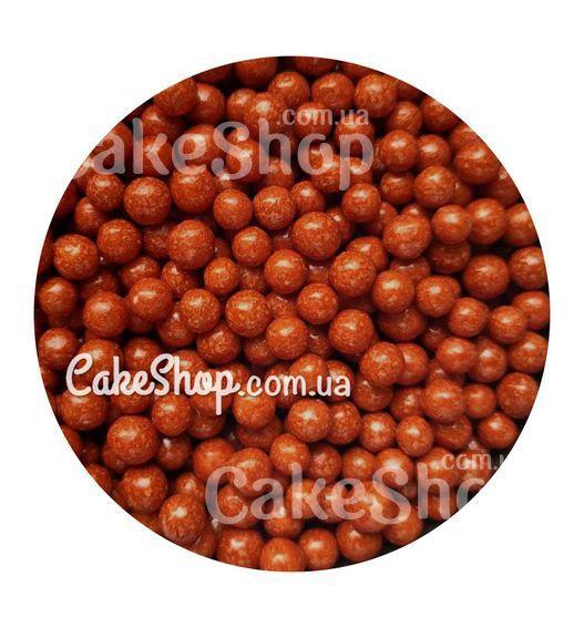 Посыпка шарики глянцевые Светло-коричневые 5 мм, 50 г