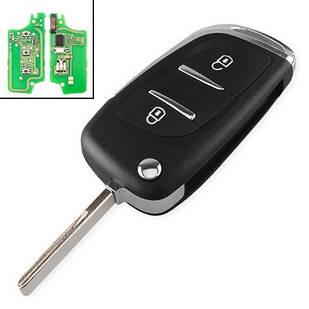 Ключ зажигания, чип ID46 PCF7961 3 кнопки HU83 для Peugeot 207 307 407 607