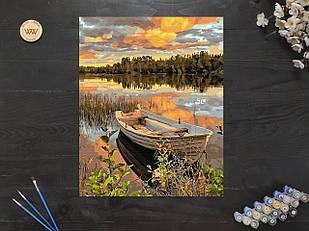 """Картина по номерам """"Лодка на закате"""" 40х50 см"""