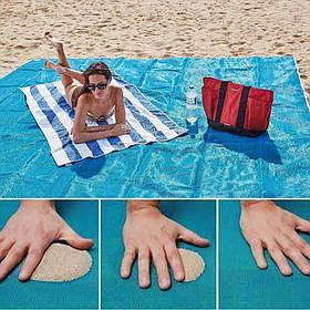 Пляжна підстилка килимок покривало АНТИ ПІСОК 2M*2M