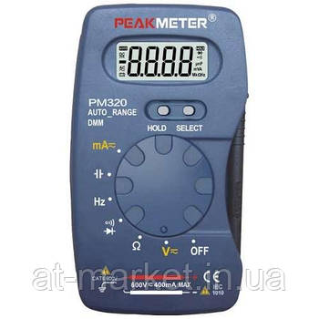 Мультиметр портативний з функцією вимірювання ємності і частоти PROTESTER PM320