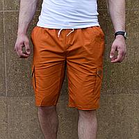 Мужские шорты кирпичного цвета коттон, фото 1