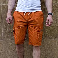 Мужские шорты кирпичного цвета коттон