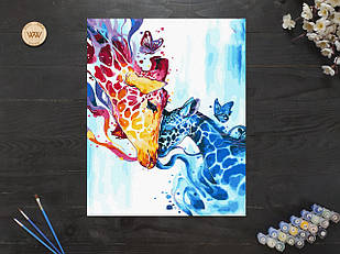 "Картина по номерам ""Красочные жирафы"" 40х50 см"