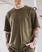 Мужская летняя оверсайз футболка Player Oversize Khaki хаки цвета