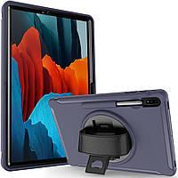 Чехол Rotating Belt Case для Samsung Galaxy Tab S7 Plus 12.4 T970 / T975 Dark Blue