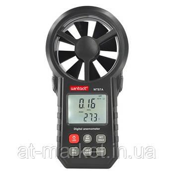 Анемометр крыльчатый 0,3-30м/с, -10-45°C WINTACT WT87A