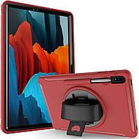 Чехол Rotating Belt Case для Samsung Galaxy Tab S7 Plus 12.4 T970 / T975 Red
