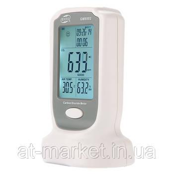 Газоанализатор углекислого газа + термогигрометр (0-2000 ppm,0-50°C, 10-90%) BENETECH GM8802