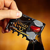 Открывашка, нож, гаечный ключ Кредитная Карта  Wallet Ninja Multi-Tool