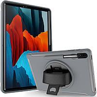 Чехол Rotating Belt Case для Samsung Galaxy Tab S7 Plus 12.4 T970 / T975 Grey
