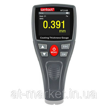 Прибор для измерения толщины краски (толщиномер) Fe, 0-1800мкм WINTACT WT2100