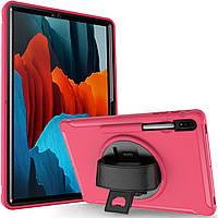 Чехол Rotating Belt Case для Samsung Galaxy Tab S7 Plus 12.4 T970 / T975 Rose