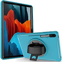 Чехол Rotating Belt Case для Samsung Galaxy Tab S7 Plus 12.4 T970 / T975 Light Blue
