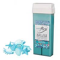 Віск для депіляції картридж касета ItalWax FLEX liposoluble wax Aquamarine - Аквамарин, 100 г