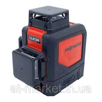 Лазерный уровень 3D, 3x360° (H360/2xV360, красный луч) PROTESTER LL412R