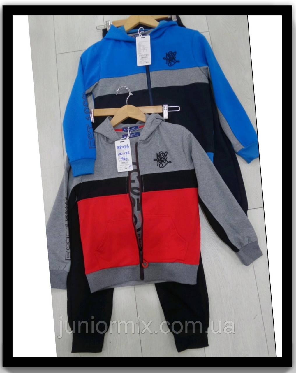 Оптом дитячі трикотажні спортивні костюми трійки для хлопчика GRACE 116---146см