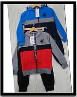 Оптом дитячі трикотажні спортивні костюми трійки для хлопчика GRACE 116---146см, фото 1