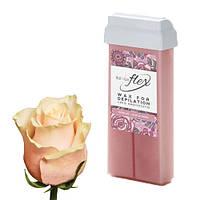 Віск для депіляції картридж касета ItalWax FLEX liposoluble wax Rose Oil - Кремова троянда, 100 г