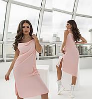 Повседневное женское платье на бретельках. Размеры:42/48+Цвета
