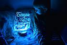 """3D нічник в дитячу з метрикою, LED світильник, нічник """"Тачки"""" Блискавка Маккуїн (16 кольорів світіння) з, фото 7"""