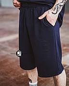 Мужские летние оверсайз шорты Player Oversize Dark Blue темно-синего цвета