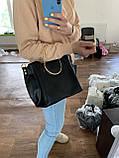Женская коричневая сумочка K06-20/3 с металлическими маленькими ручками на плечо, фото 5