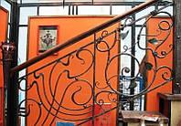 Модульные перила металлические для лестницы