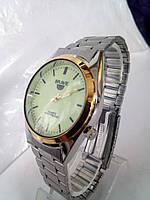 Чоловічий наручний годинник brave на браслеті світиться циферблат