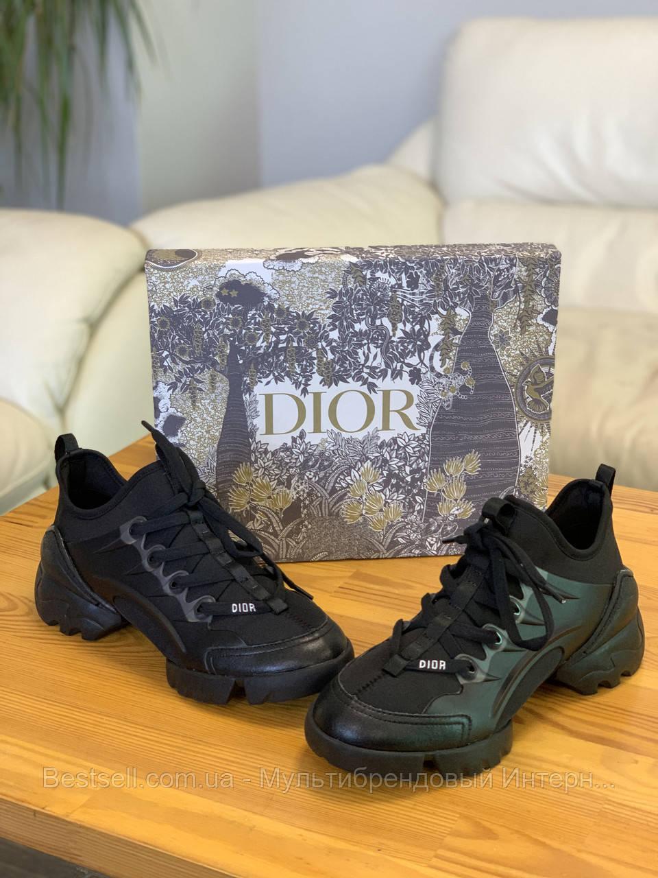 Кроссовки Christian Dior D-connect Black Кристиан Диор Чёрные (36,37,38,39,40) Реплика
