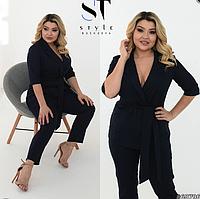 Классический женский костюм пиджак и брюки большого размера 48 50 52 54 56 58 60 62