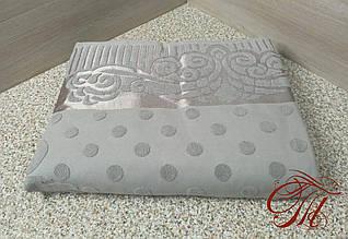 Махровая простынь Koloсo 200х230см Горох серый