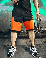 Мужские шорты черно-оранжевые Корт