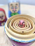 Деревянная игрушка Матрешка Репка MD 2799, фото 4