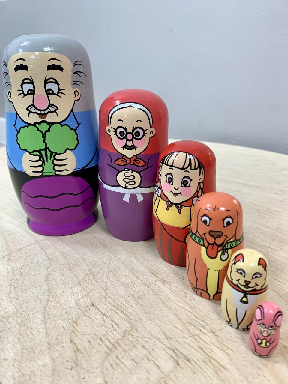 Деревянная игрушка Матрешка Репка MD 2799