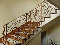 Металлические перила из нержавейки для лестницы