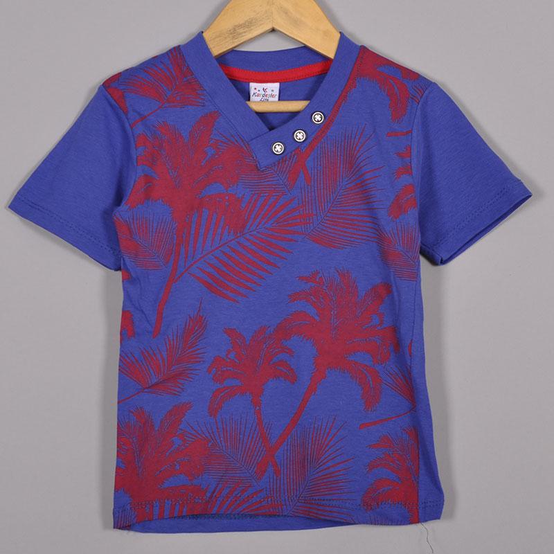 Детская трикотажная футболка, для мальчиков 5-8 лет (4 ед в уп), Синий