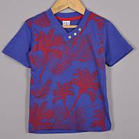 Детская трикотажная футболка, для мальчиков 5-8 лет (4 ед в уп), Синий, фото 1