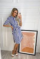 Платье в полоску льняное женское (ПОШТУЧНО), фото 1