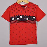 Дитяча трикотажна футболка, для хлопчиків 1-4 роки (4 од в уп), Червоний, фото 1