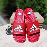 Мужские летние шлепки в стиле Adidas красные массажные