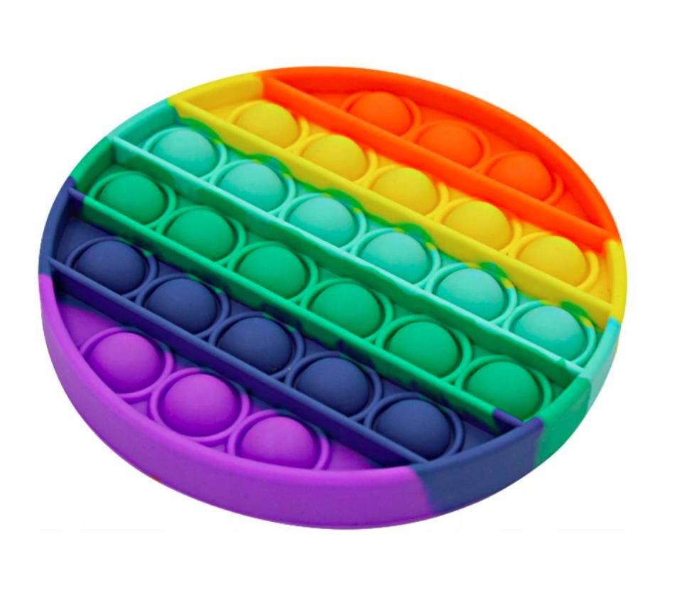 Игрушка антистресс Pop it для детей (радужный круг)
