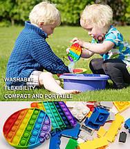 Игрушка антистресс Pop it для детей (радужный круг), фото 3