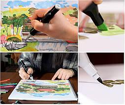 Набір скетч-маркерів 60 шт. для малювання двосторонніх Touch, фото 2