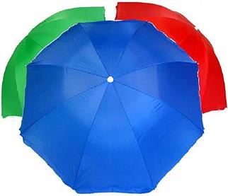 Зонт пляжний і садовий 120P 2.5 метра, різні кольори